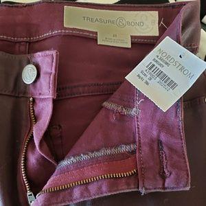Treasure & Bond Skinny Coated Jeans